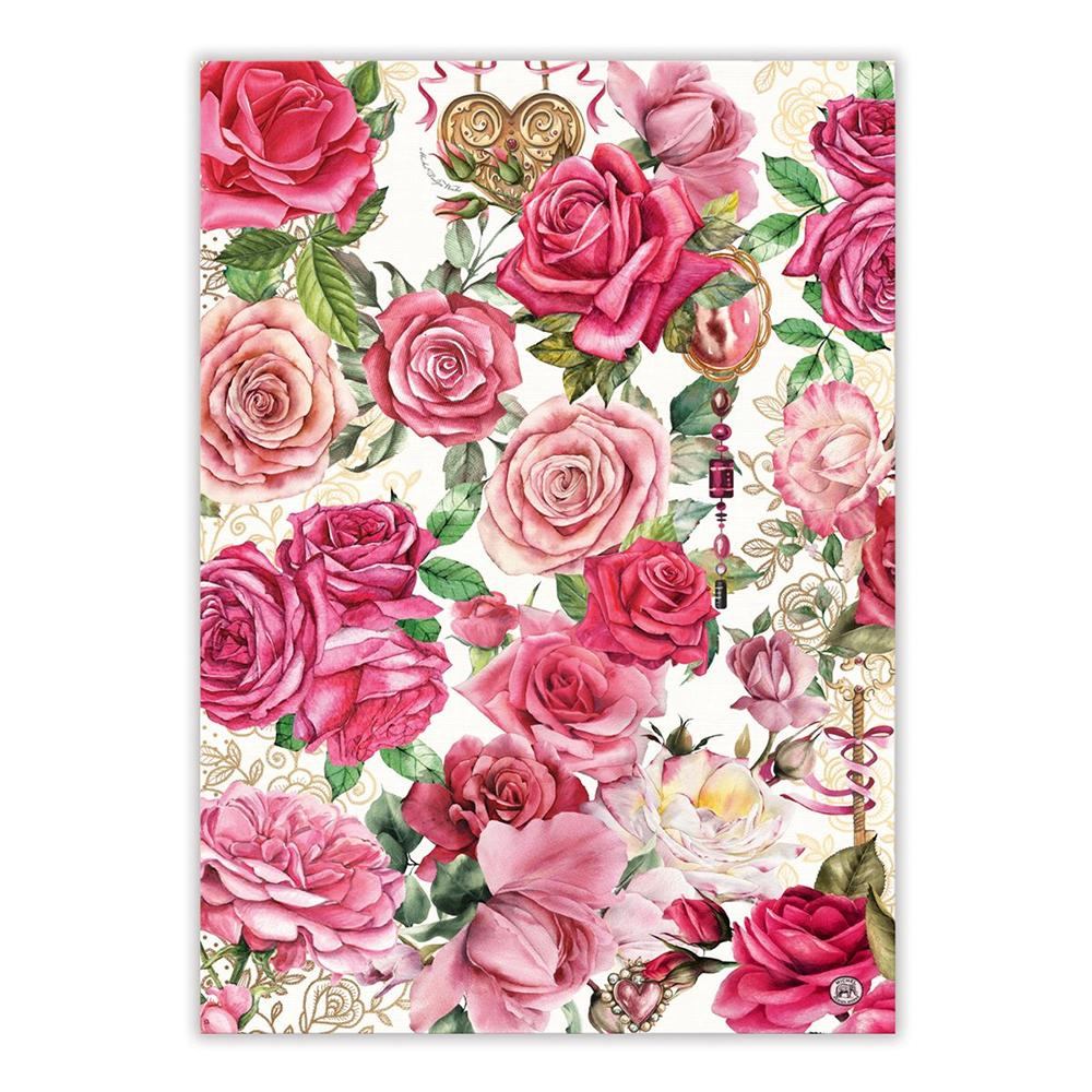 Royal Rose Kitchen Tea Towel
