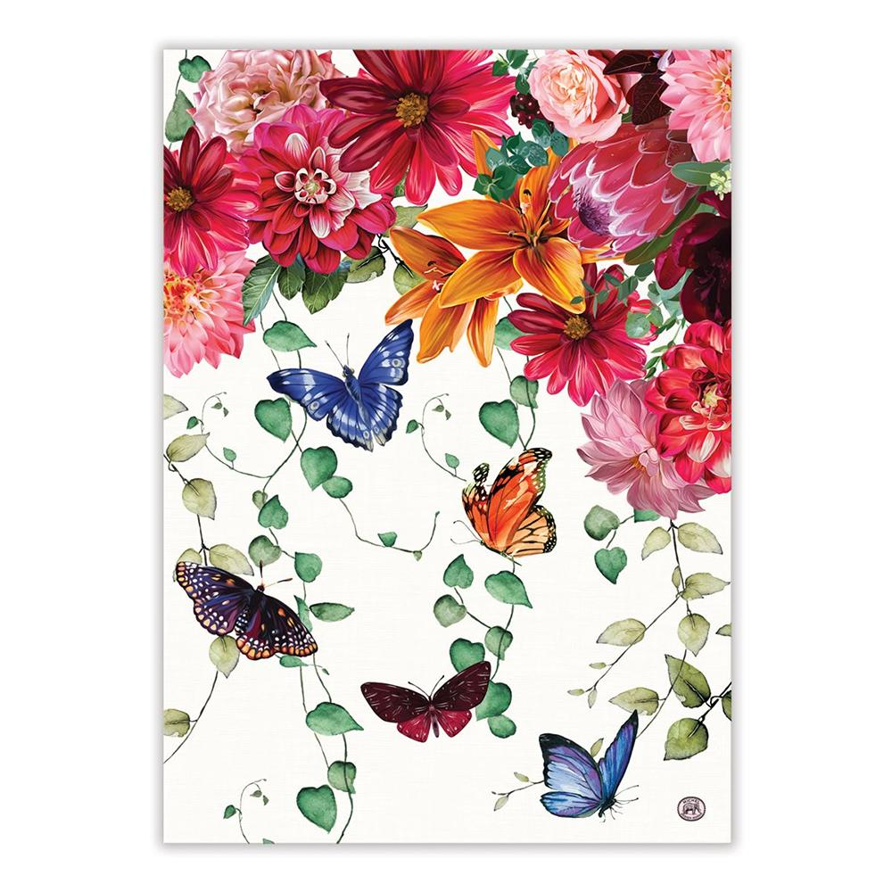 Sweet Floral Melody Kitchen Tea Towel