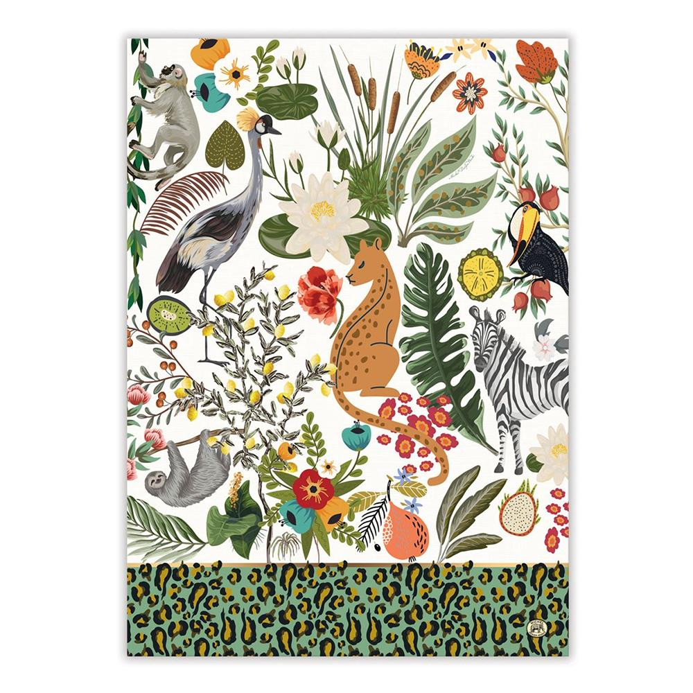 Wildlife Park Kitchen Tea Towel