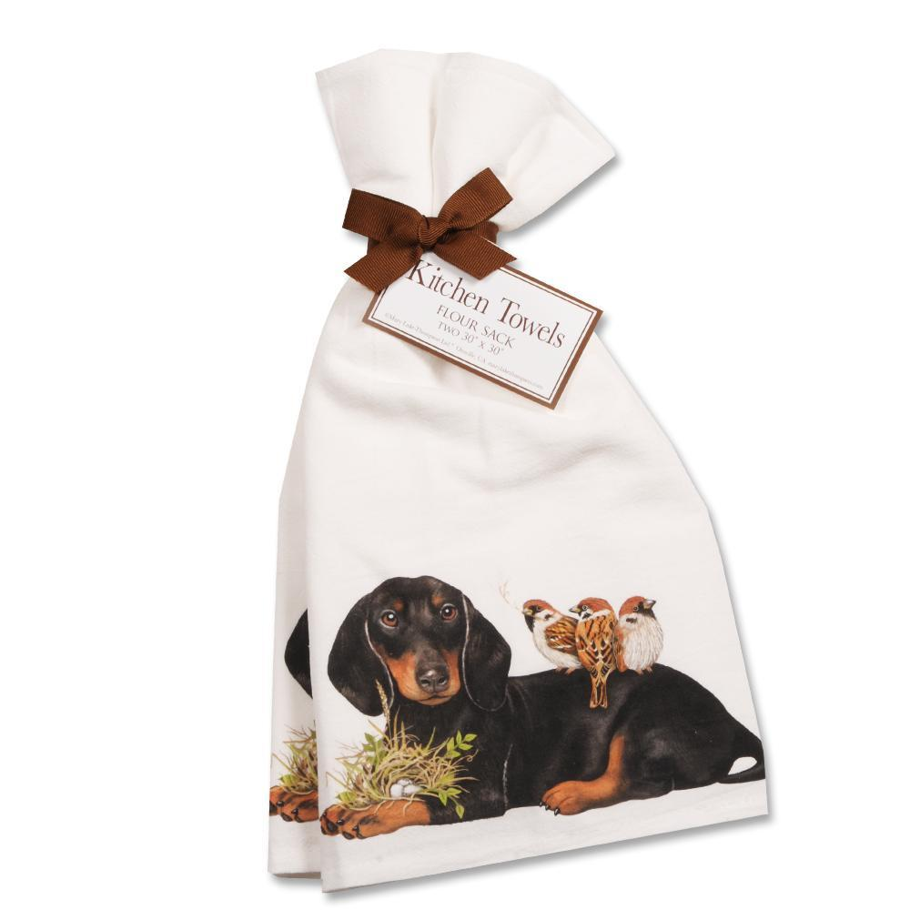 Garden Dachshund Kitchen Towels - Set of 2