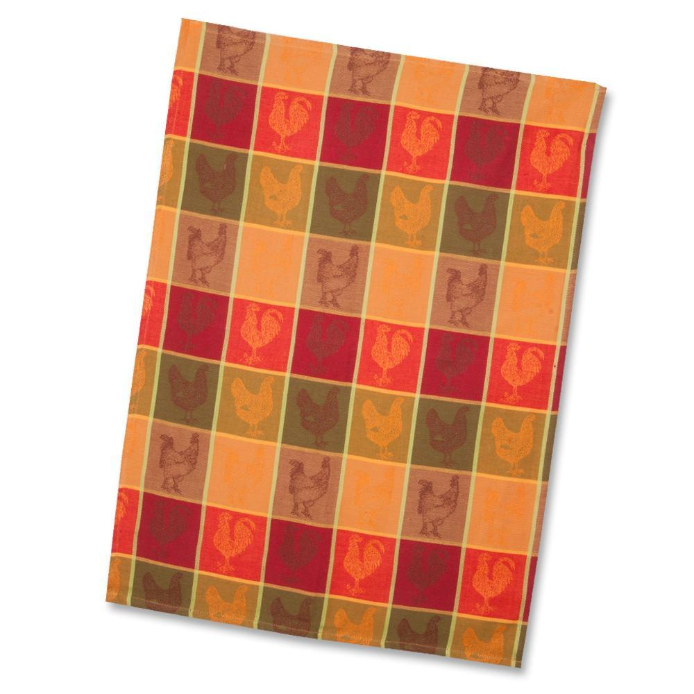 Chicken Coop Jacquard Woven Kitchen Towel