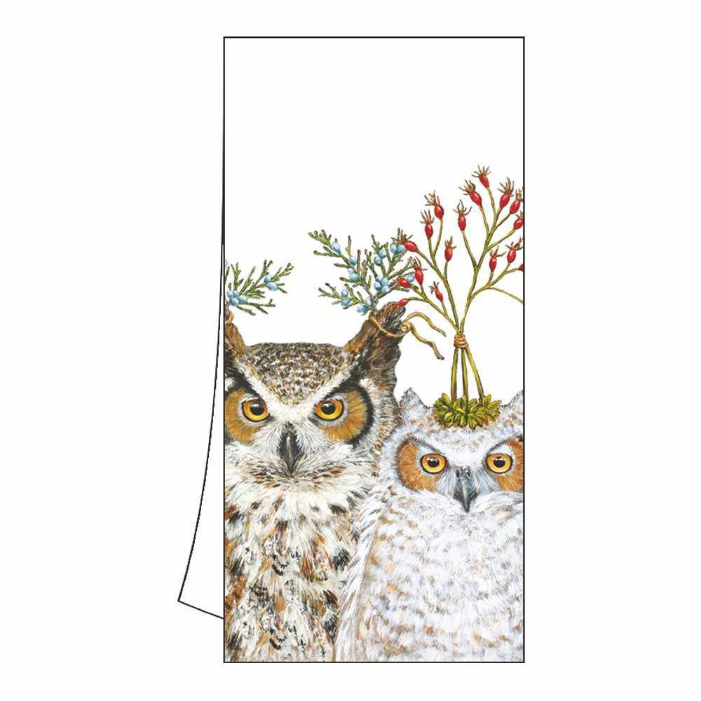 Holiday Hoot Owl Kitchen Towel