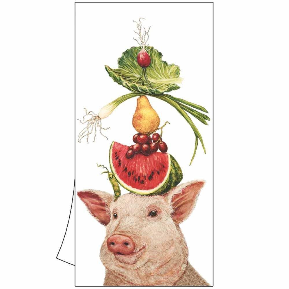 Lulu the Pig & Her Lunch Kitchen Towel