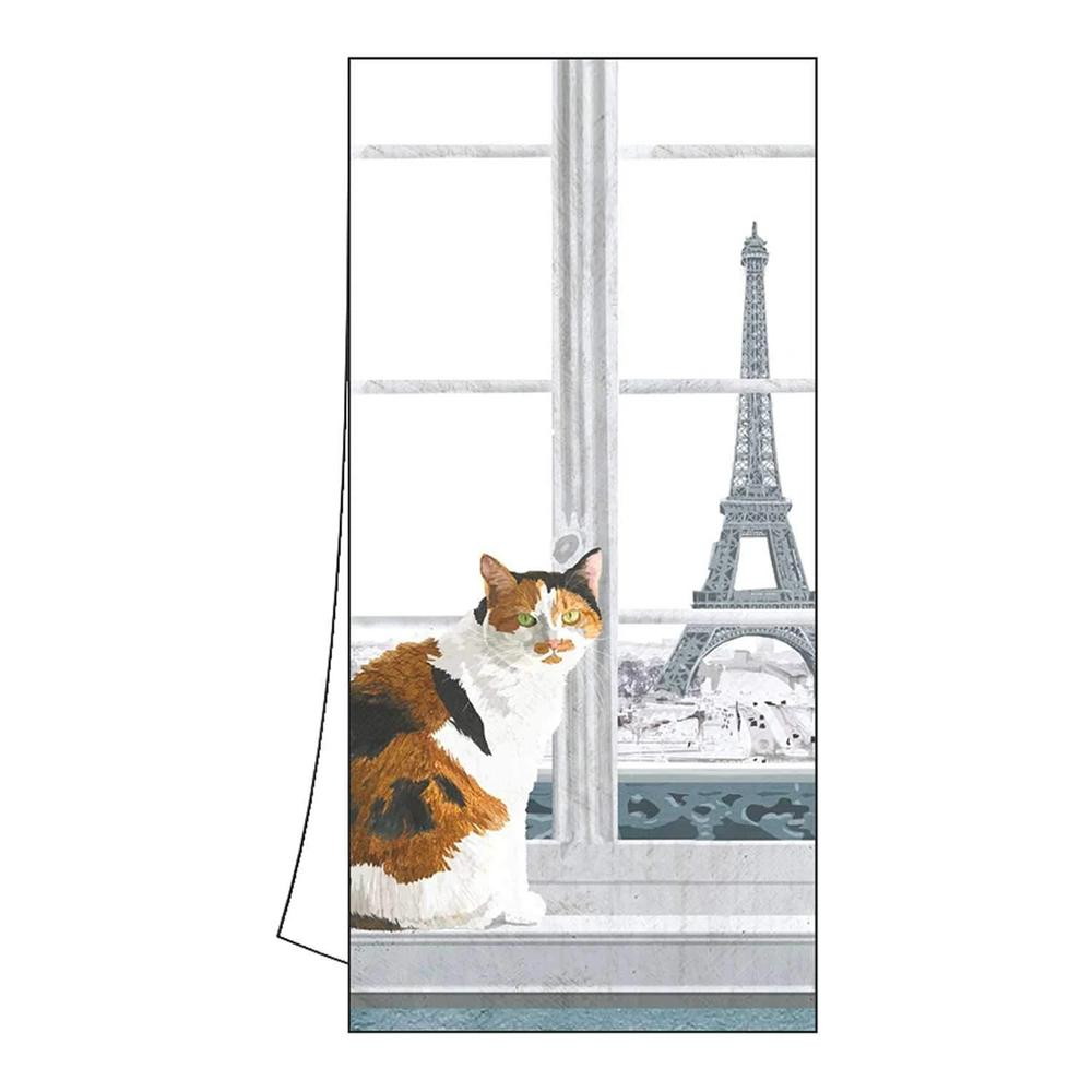 Madeleine the Cat in Paris Kitchen Towel