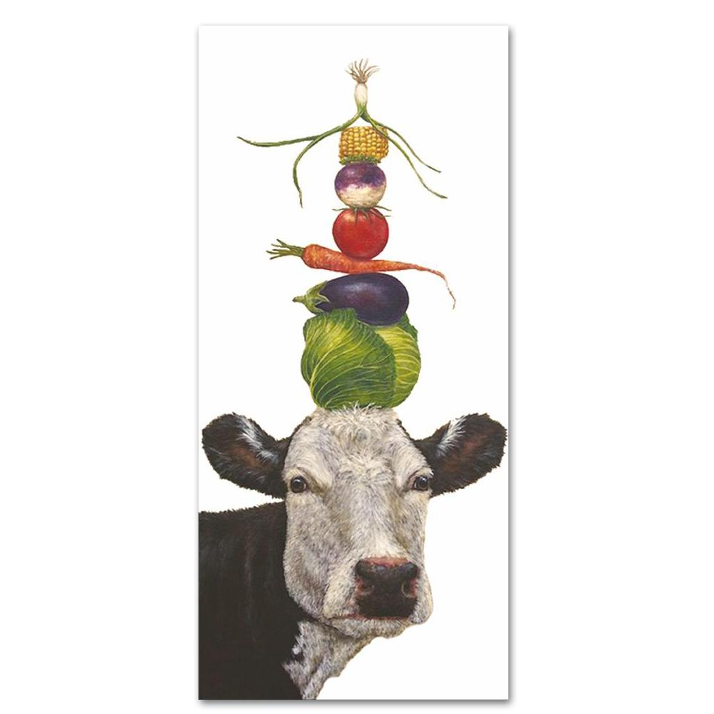 Ida the Cow Kitchen Towel by Vicki Sawyer
