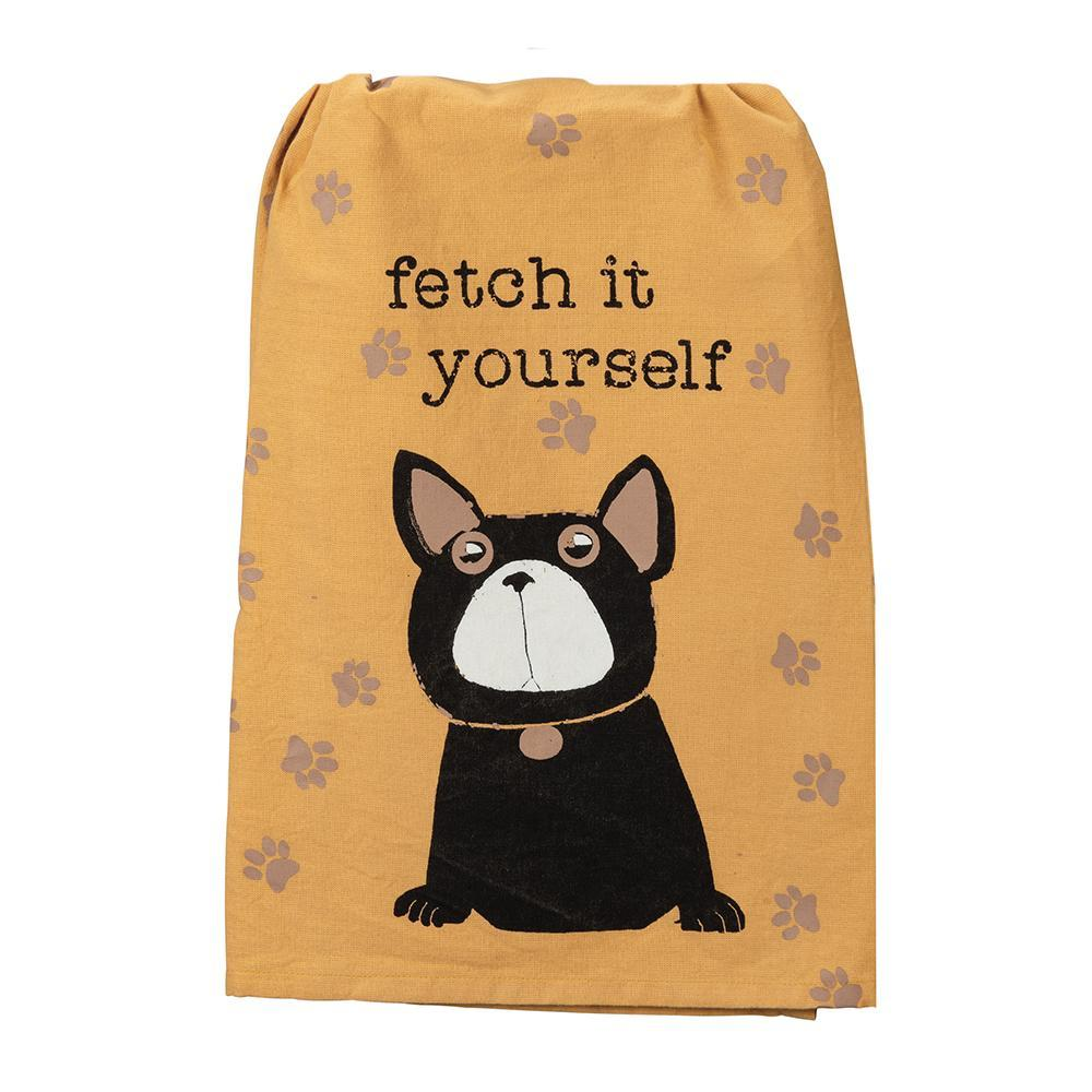 Fetch It Yourself Funny Dog Kitchen Towel