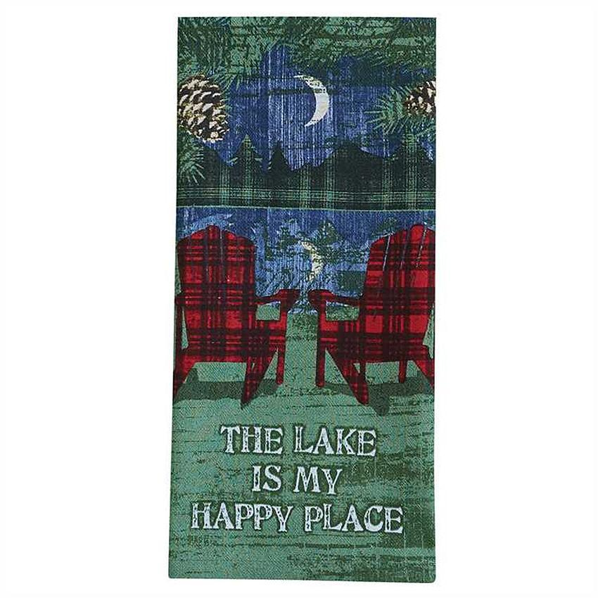 Lake is Happy Place Kitchen Towel