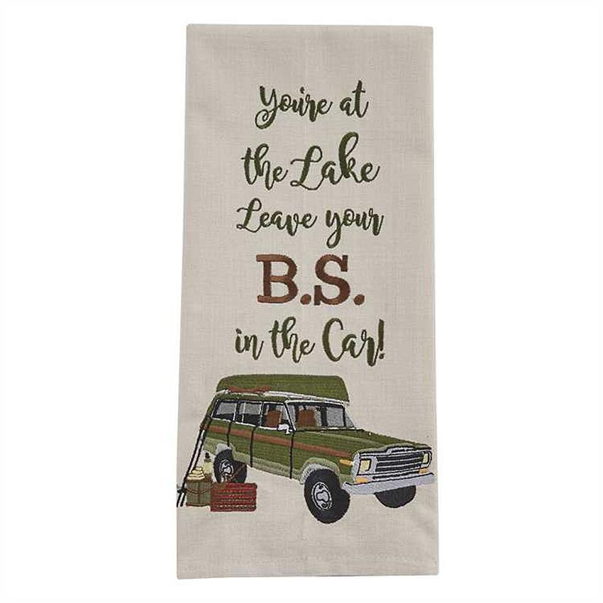 Leave Your BS Embroidered Kitchen Towel