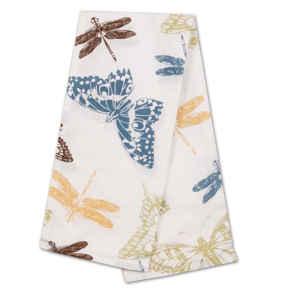 Garden Butterflies Kitchen Tea Towel