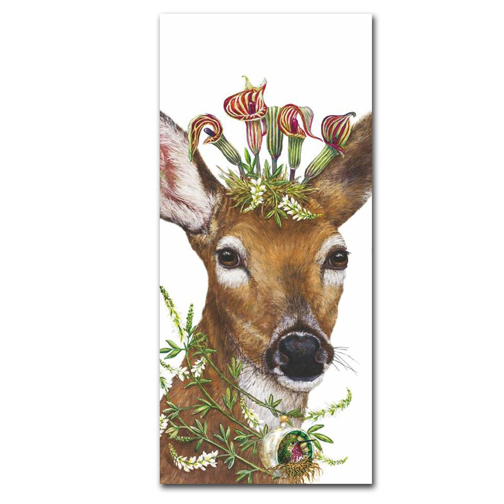 Christmas Deer Princess Kitchen Towel