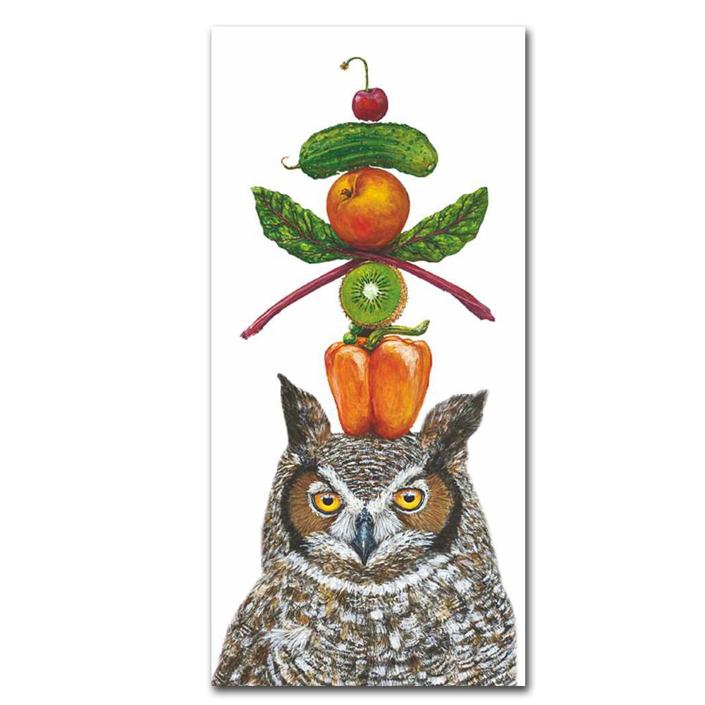 What A Hoot Owl Kitchen Towel by Vicki Sawyer