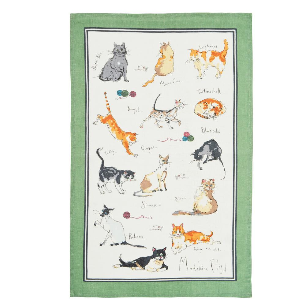 Madeleine Floyd Cats Tea Towel