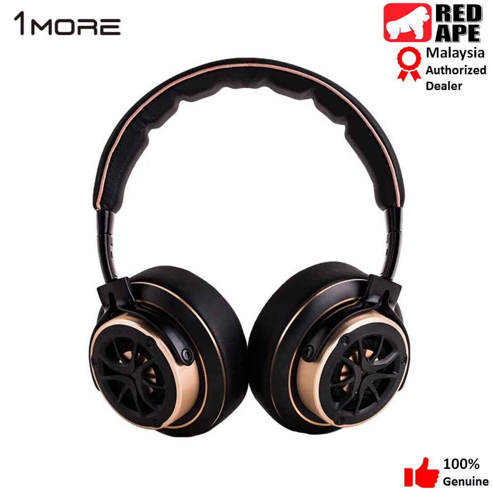 1MORE H1707 Triple Driver Gold Over-Ear Headphones for Apple, iOS and Android