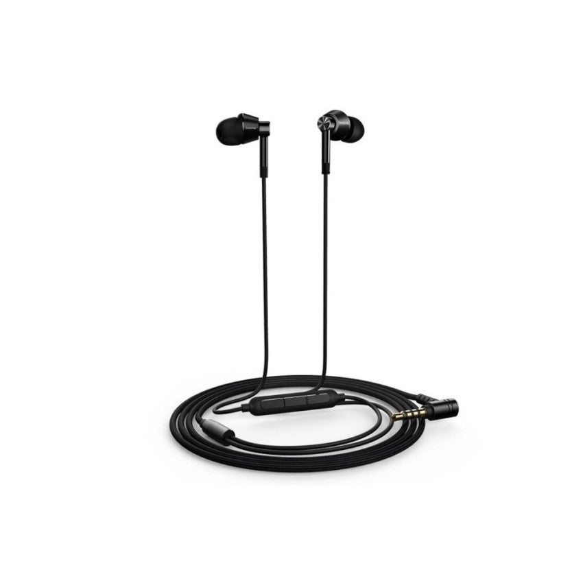 1MORE Dual Driver In-Ear Headphones (Earphones/Earbuds/Headset) with Apple iOS and Android Compatible Microphone and Remote (Jet Black) by Red Ape