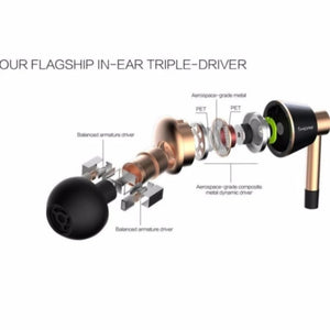 1MORE Triple Driver In-Ear Headphones (Earphones/Earbuds) with Apple iOS and Android Compatible Microphone and Remote (Titanium)