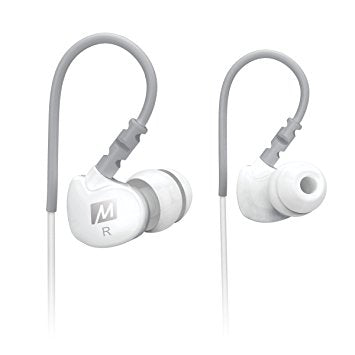 MEE audio Sport-Fi M6 Noise Isolating In-Ear Headphones with Memory Wire (White) by RED APE