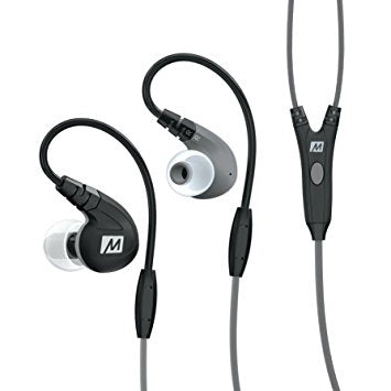 MEE Audio (M7P) Audio Secure-Fit Sports In-EarHeadphones with Mic Remote and Universal Volume Control (Black) BYRED APE