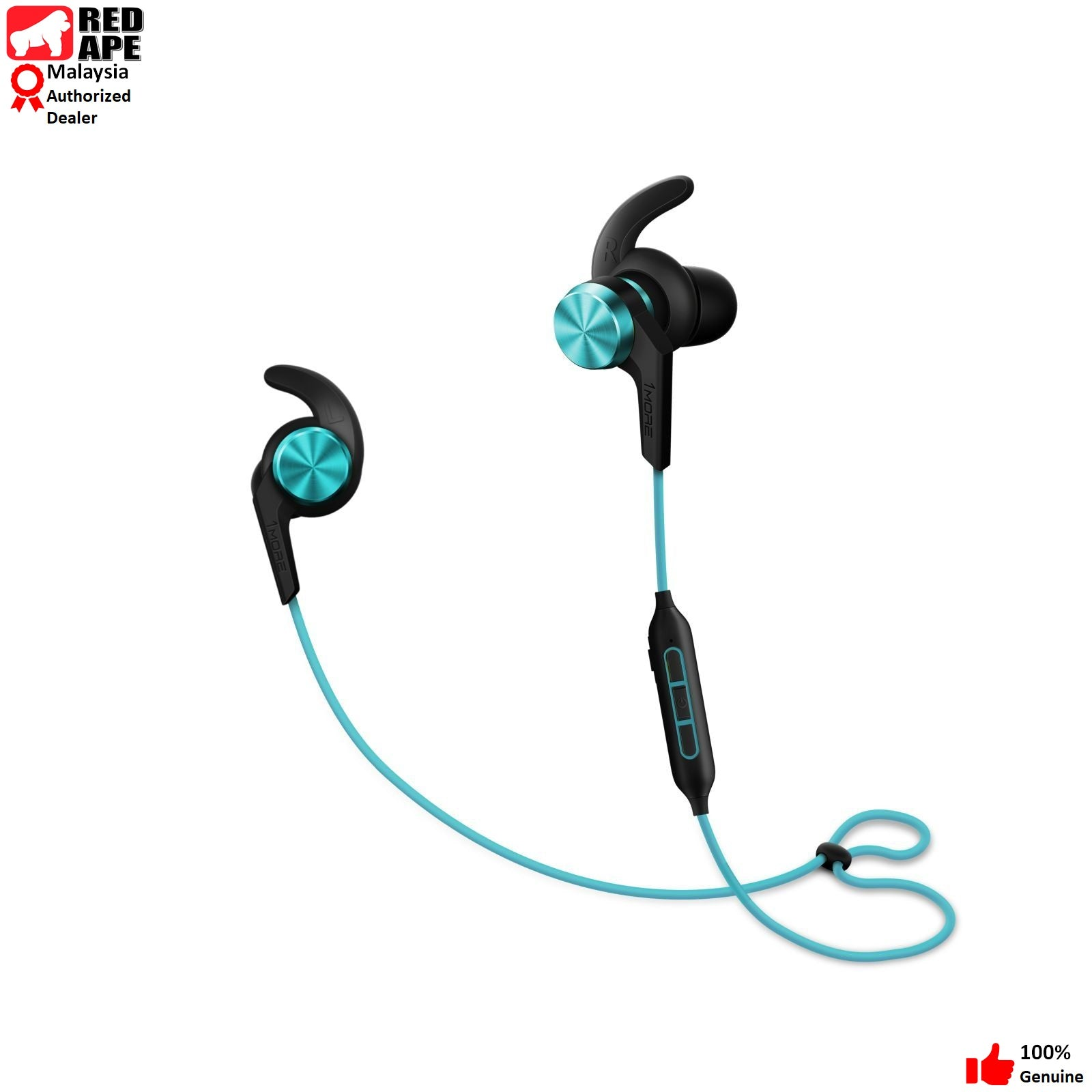 1MORE Bluetooth (Wireless) Sport In Ear Headphones (Earphones, Earbuds) with Microphone - 2018 iBFree, New Model