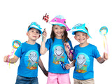 Kids Dolphin T-Shirt in Turquoise (With Flap Mouth)