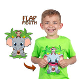 Kids Elephant T-Shirt in Green (With Flap Mouth)