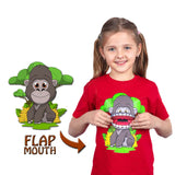 Kids Gorilla T-Shirt in Red (With Flap Mouth)