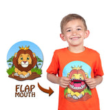 Kids Lion T-Shirt in Orange (With Flap Mouth)