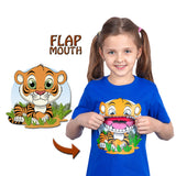 Kids Tiger T-Shirt in Blue (With Flap Mouth)