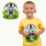 Kids Zebra T-Shirt in Yellow (With Flap Mouth)