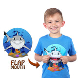 Kids Shark T-Shirt in Blue (With Flap Mouth)