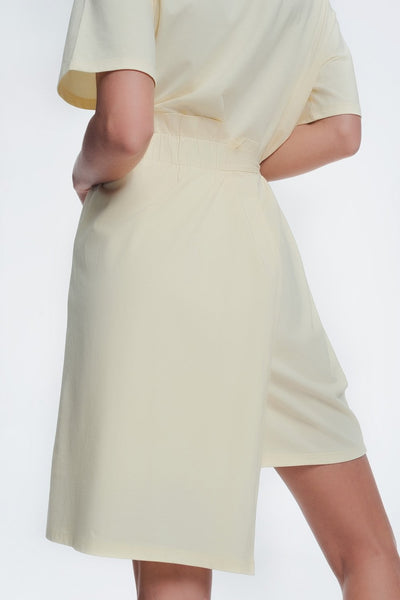 Yellow Dress With Elastic Side Band