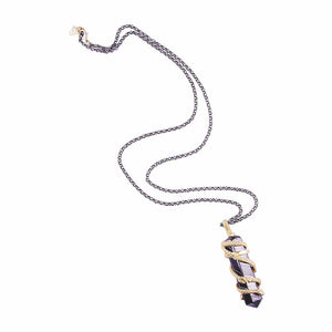 Hydra Snakes Hematite Necklace