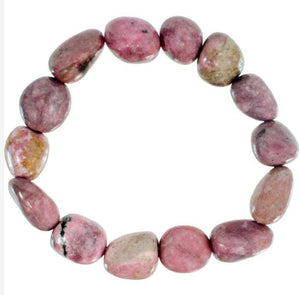 Genuine Tumbled Rhodonite Bracelet