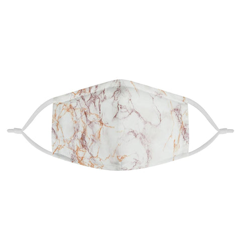 Rose Gold Marble Pattern | 100% Soft Pima Cotton Triple Layer Face Mask