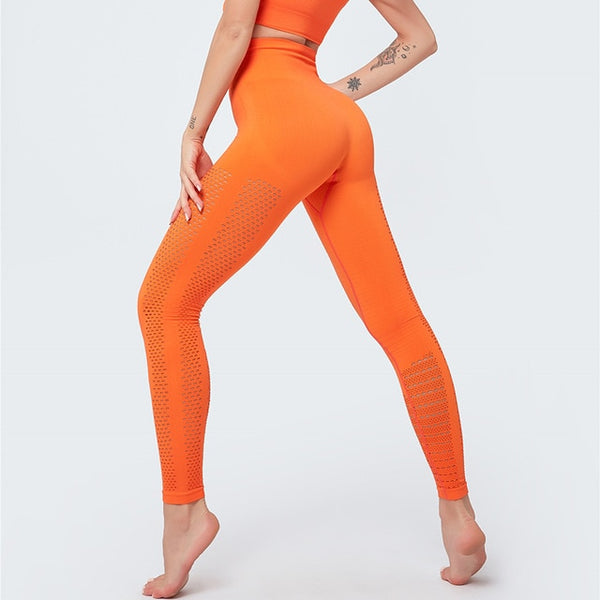 Hollow Out Seamless Leggings