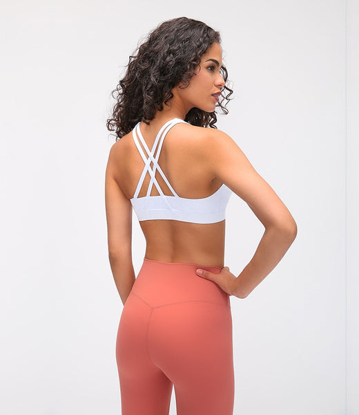High-Neck Naked-feel Yoga Bra