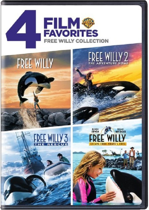 4 Film Favorites Free Willy 1 2 3 4 Escape From Pirates Cove Collection New DVD