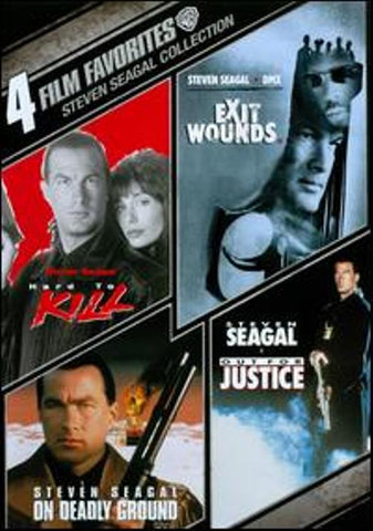 4 Film Collection Steven Seagal Hard to Kill Out for Justice Exit Wou New DVD R1