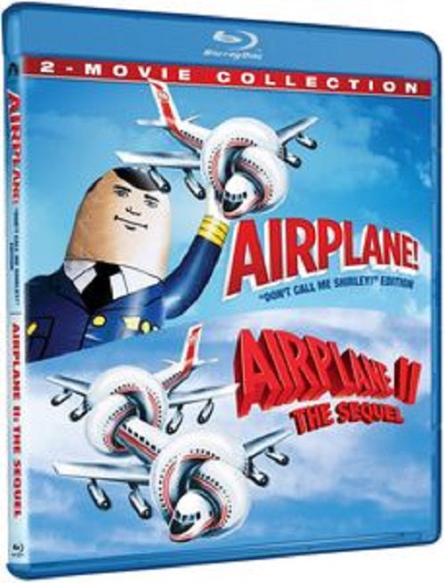 Airplane 1 + Airplane 2 The Sequel 2-Movie Collection Airplane 2  New Blu-ray