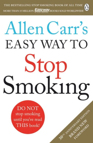 Allen Carr's Easy Way to Stop Smoking Carr New Paperback Book IN STOCK NOW Carrs