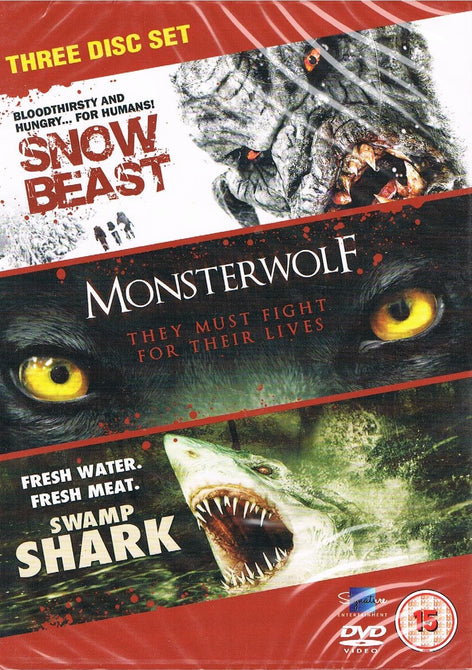 Creature Feature Collection Snow Beast Monsterwolf Swamp Shark Region 4 DVD New