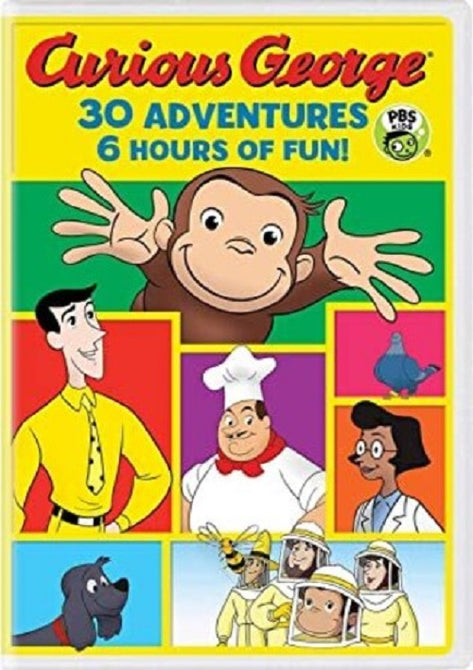 Curious George 30 Adventures 6 Hours of Fun (Frank Welker Jeff Bennett) DVD