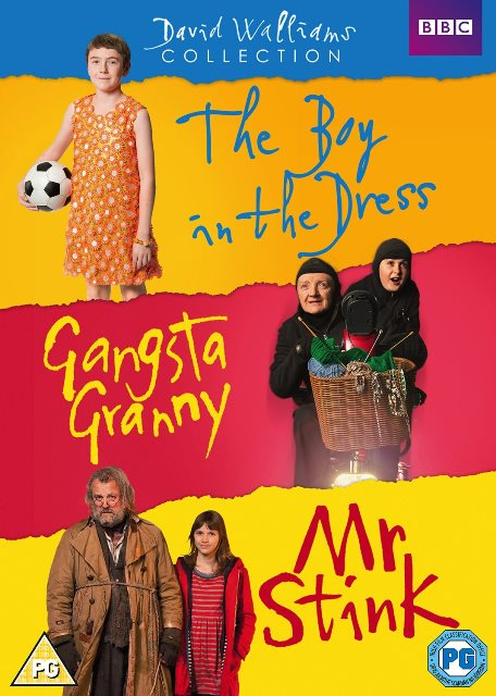 David Walliams Collection The Boy in the Dress Gangsta Granny Mr Stink R4 DVD
