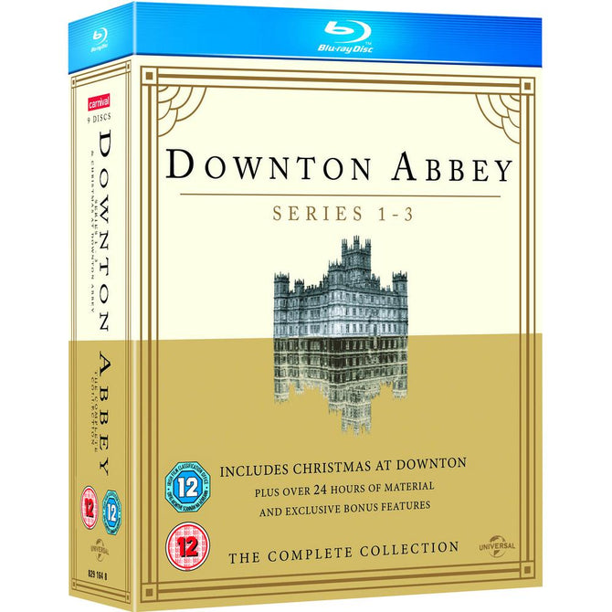 Downton Abbey Series 1 2 3 + Christmas at Downton Abbey Reg B Blu-ray Clearance