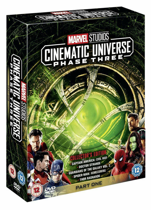 Marvel Studios Cinematic Universe Phase Three Part One 3 1 New Region 2 DVD