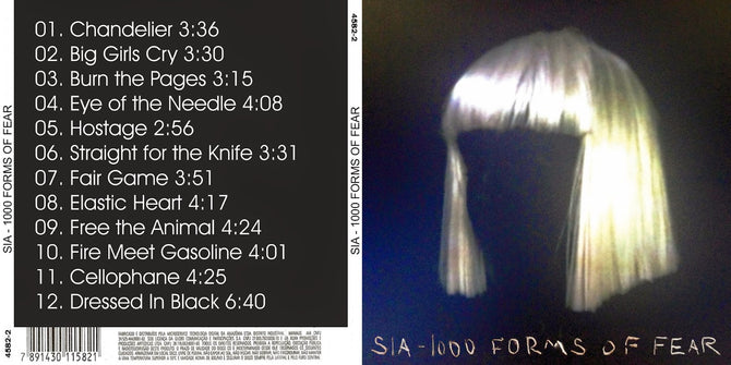 Sia 1000 Forms of Fear One Thousand New CD