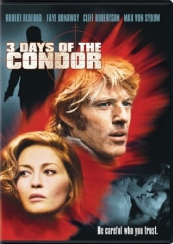 3 Days of the Condor (Robert Redford) Three New Region 1 DVD