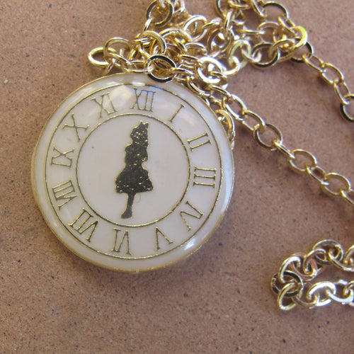 girl on watch pendant