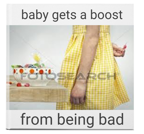 baby gets a boost by being bad