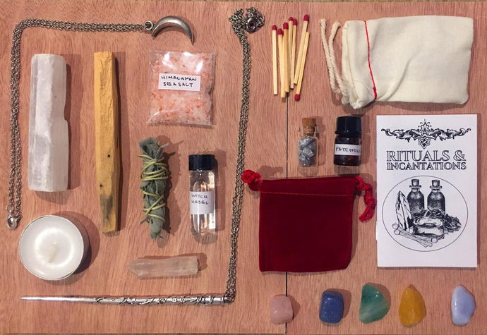witch kit ~ altar kit ~ witchcraft kit ~ crystal witchcraft ~ potion making kit ~ pagan witchcraft ~ wiccan witchcraft alter kit magic wand