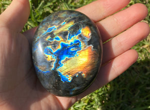 Labradorite Palm Stone crystal mineral